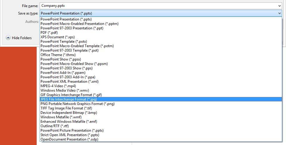 export slides as jpg