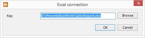 add a connection to an excel file
