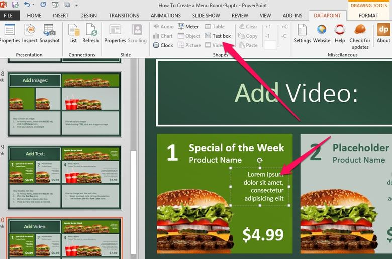 link dynamic content to your digital menu board
