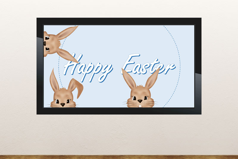Free digital signage powerpoint template for Easter promotions