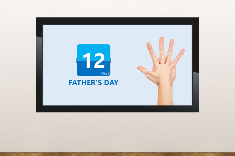 Free digital signage powerpoint template for Father's Day