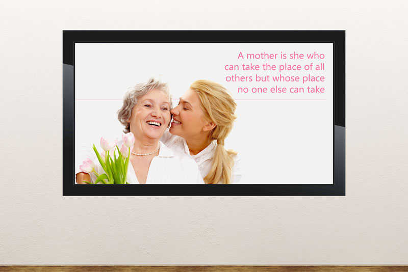 Free digital signage powerpoint template for Mother's Day