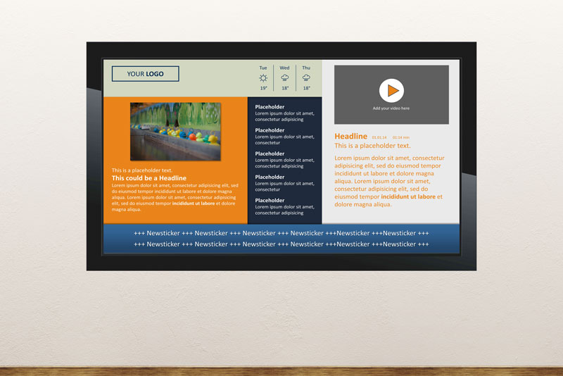 Free Digital Signage Templates Presentationpoint