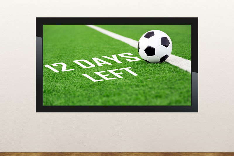 Free PowerPoint template about soccer games