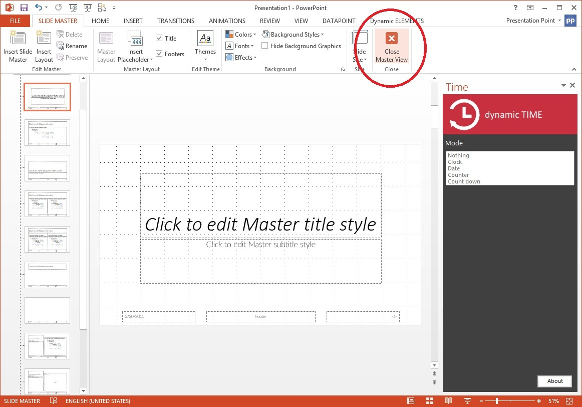 How To Display a Live Clock in PowerPoint?