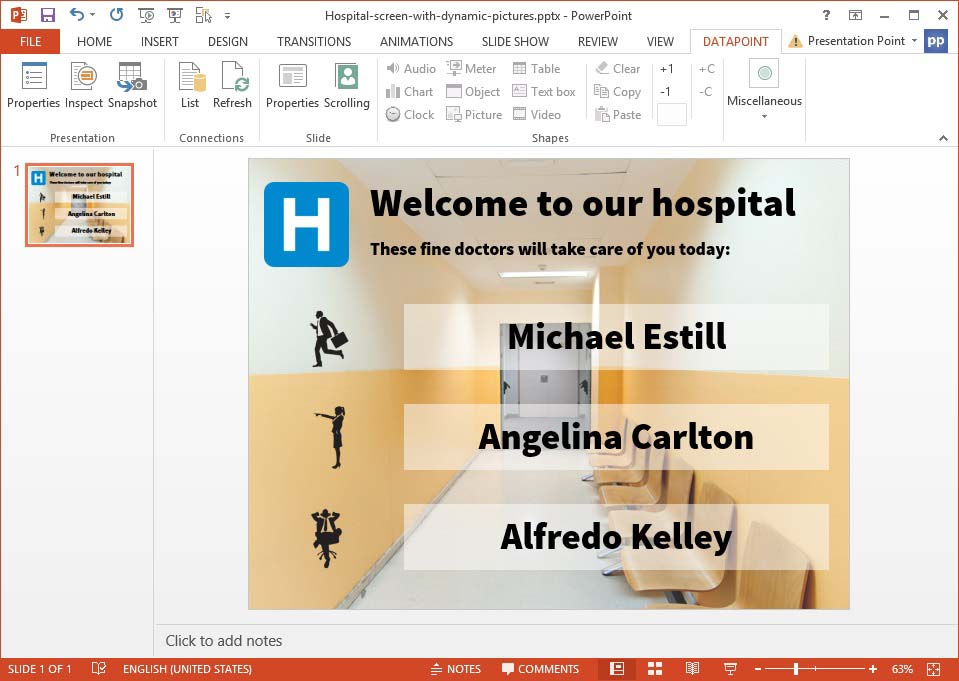 preview of dynamic pictures on a powerpoint slide