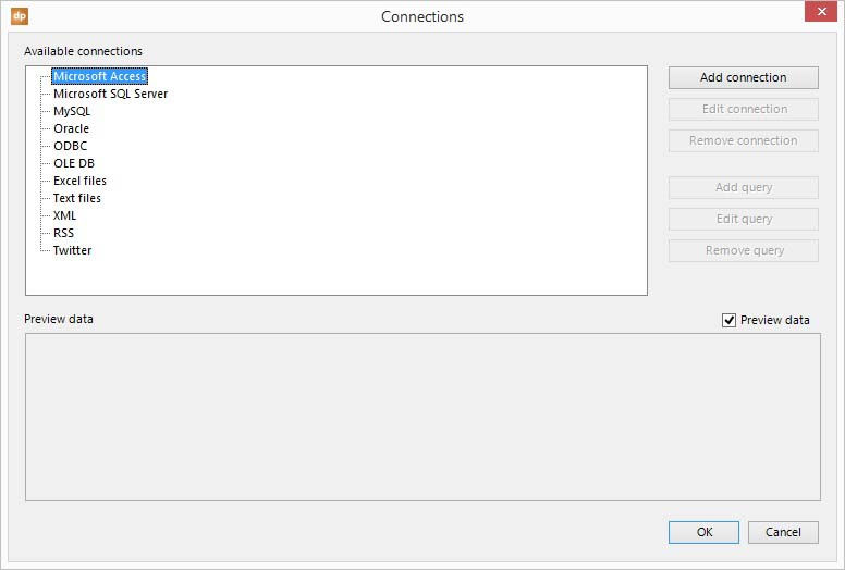 go to the microsoft access node in the connections overview form