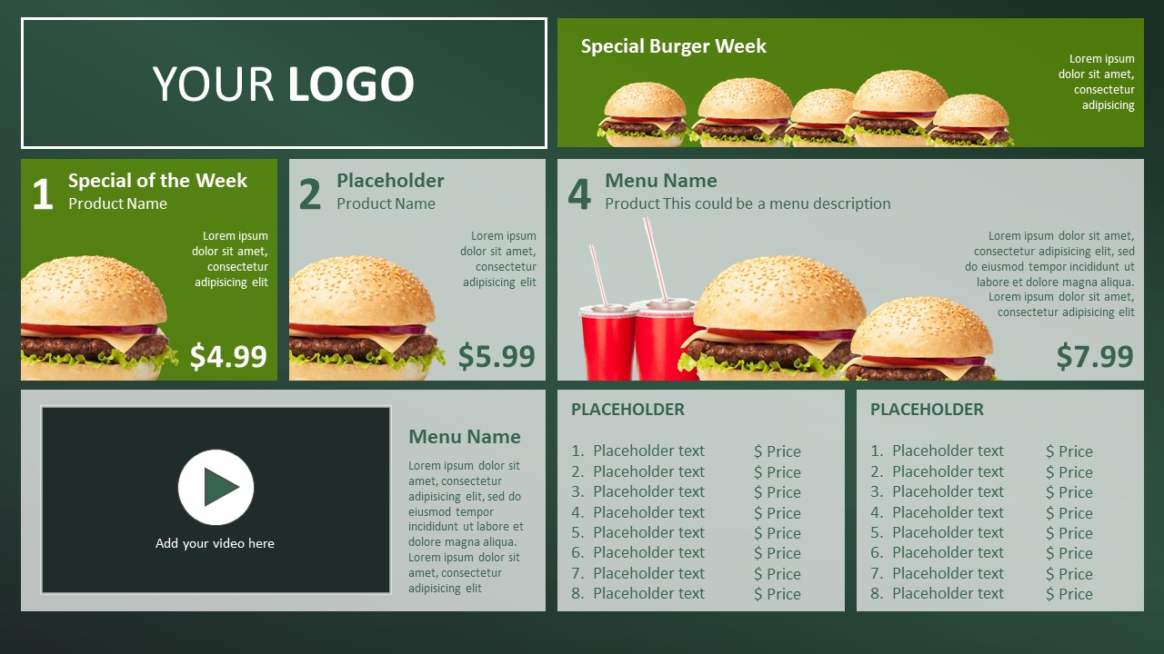restaurant menu powerpoint template - gse.bookbinder.co, Powerpoint templates