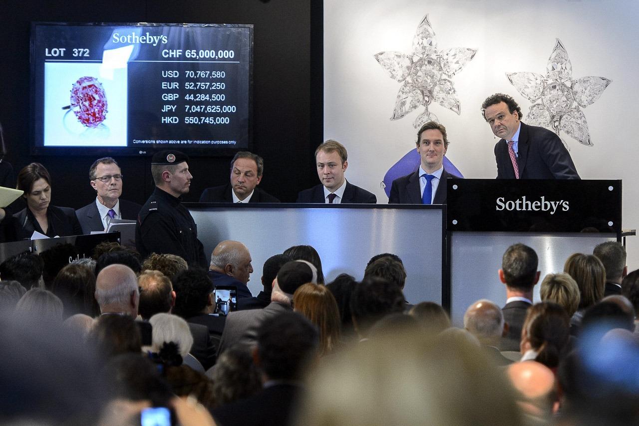 data driven presentation sample like at Sotheby's