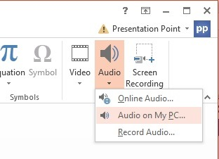 How to play music playlists in PowerPoint?