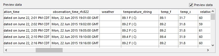 xml wunderground weather information unsorted