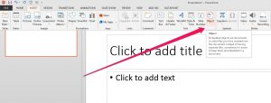 nsert excel spreadsheet into powerpoint menu