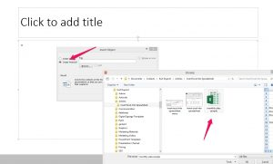 insert excel spreadsheet into powerpoint object