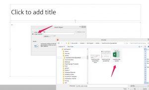 Insert Excel Spreadsheet into PowerPoint