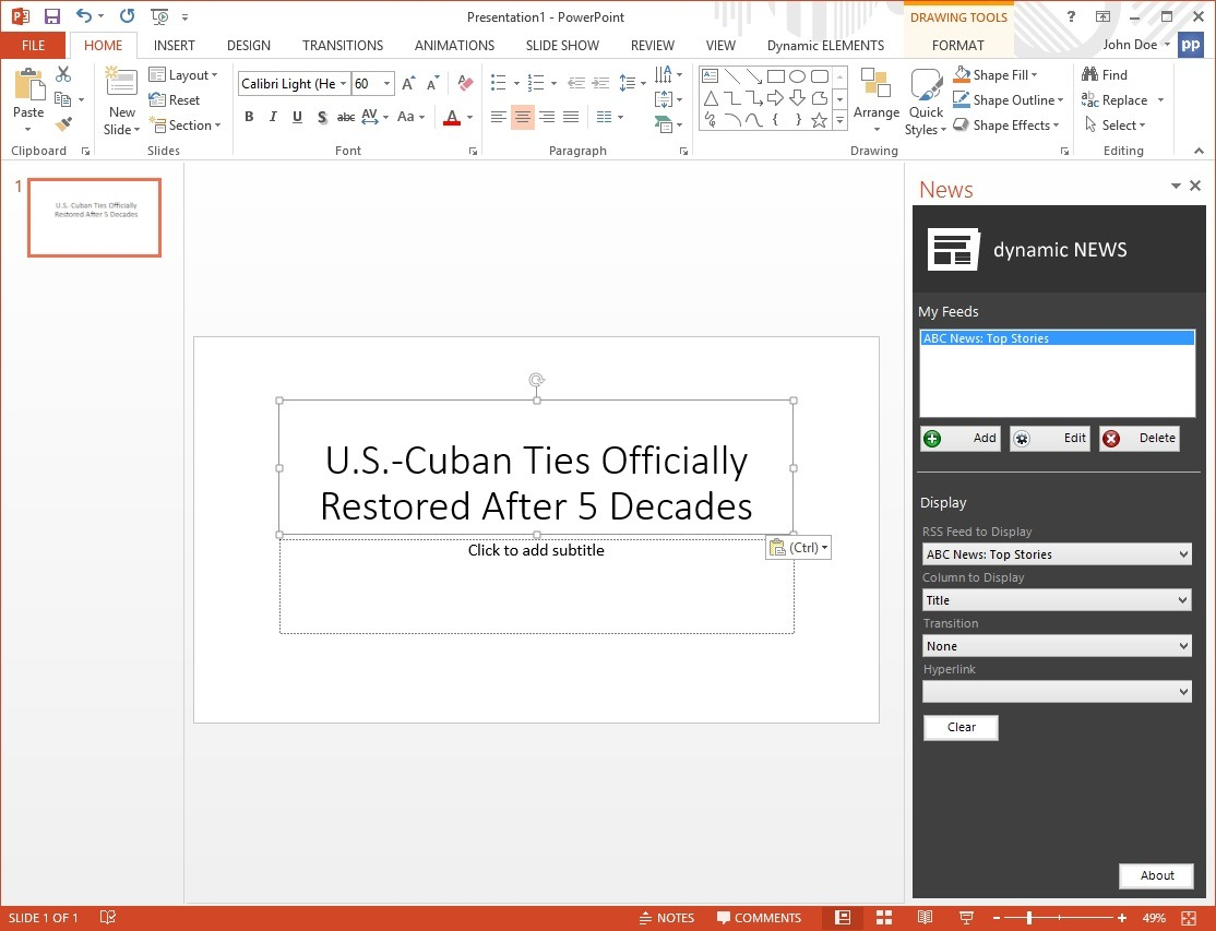 news-in-powerpoint-show-headline-in-textbox
