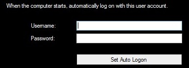 Free Utility to Automatically Log On to Windows
