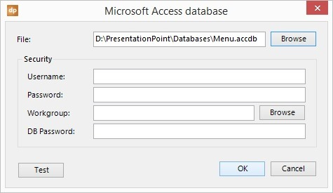 example of absolute database linking in powerpoint