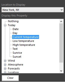 weather text box properties