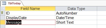 time restricted today base table