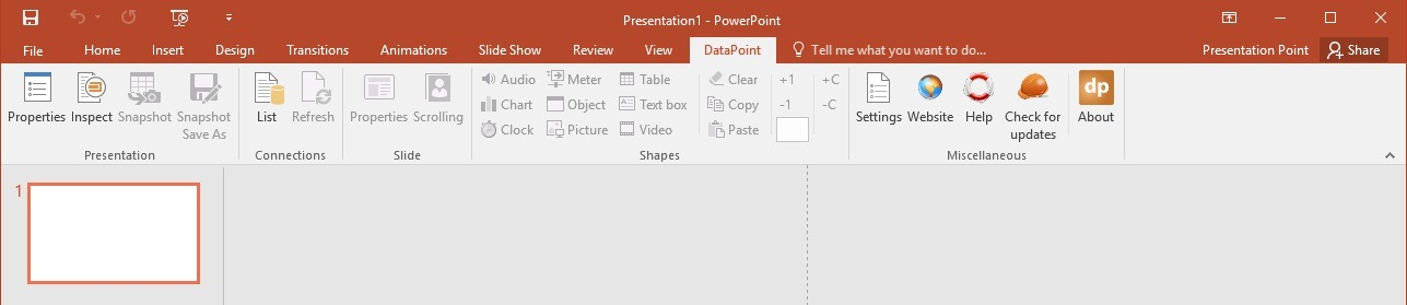 microsoft powerpoint 2016 new menu