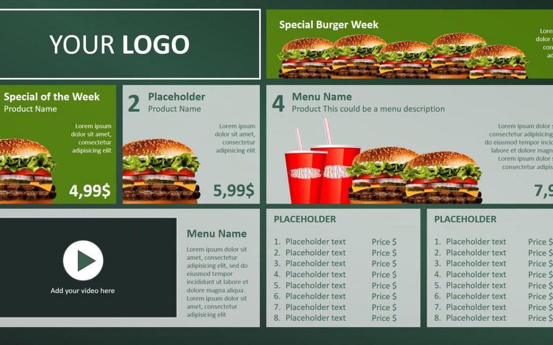Digital Menu Board PowerPoint Design