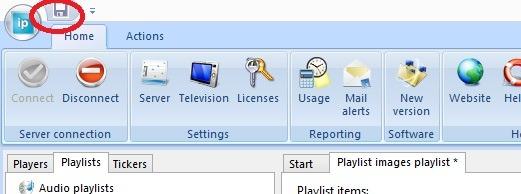 save playlist to server