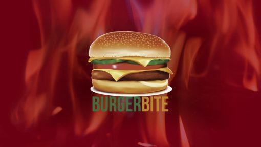 Premium PowerPoint Template for hamburger and take-away restaurants - company logo