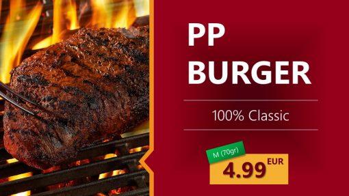 Premium PowerPoint Template for hamburger and take-away restaurants - hamburger