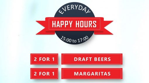 Premium PowerPoint template for advertising in pubs - happy hours