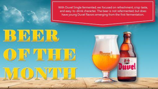 Premium PowerPoint template for advertising in pubs - beer of the month