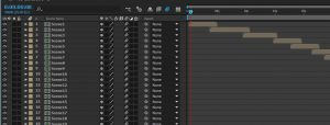 screenshot of animations in adobe after effects