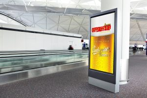 digital advertising screen created in powerpoint