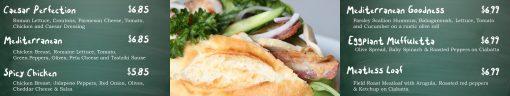 Multiscreen Premium PowerPoint template for multiscreen menu boards in restaurants - sandwiches