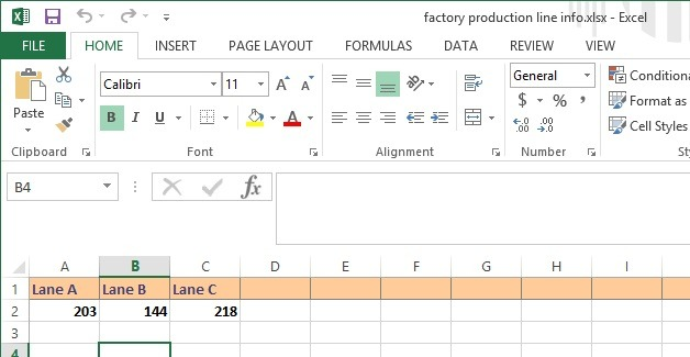 raw excel data for rules
