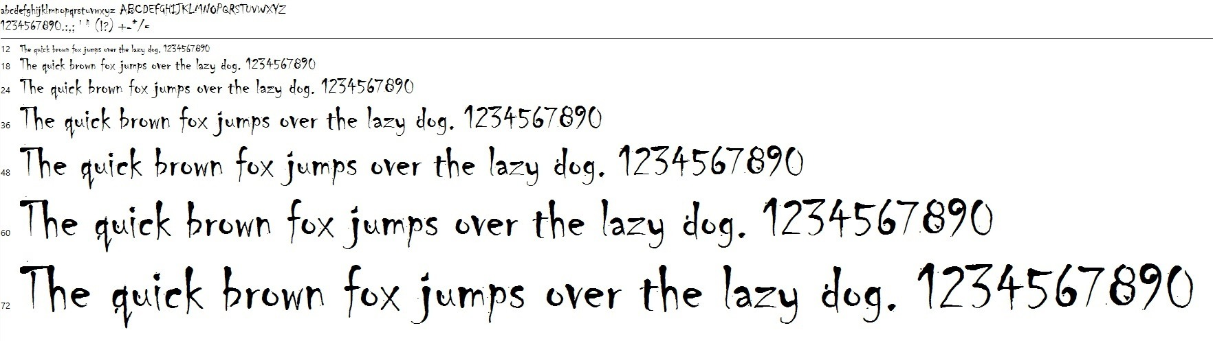 the quick brown fox jumps... example of a font for powerpoint