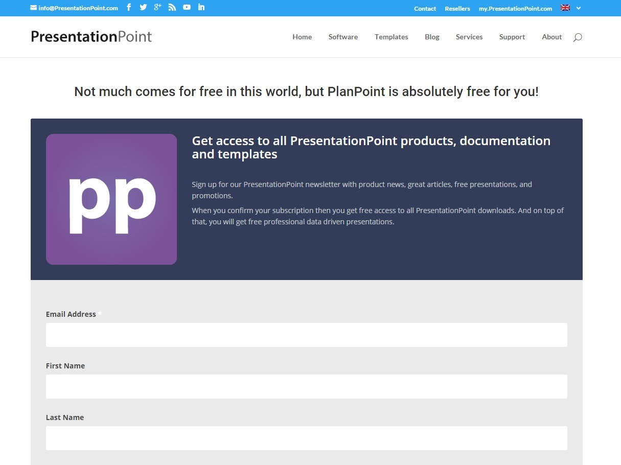 sign up for planpoint download