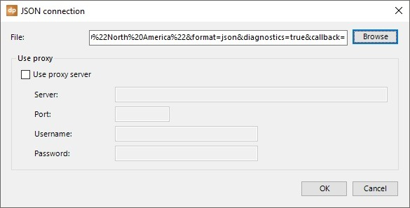 json connection url in datapoint