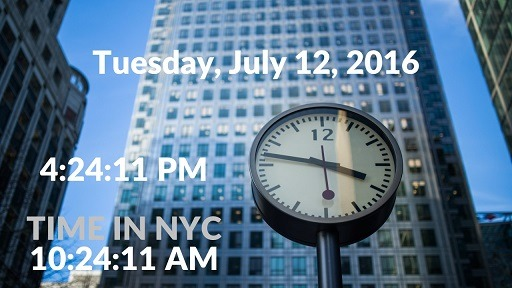 PowerPoint Clock with Date & Time Display