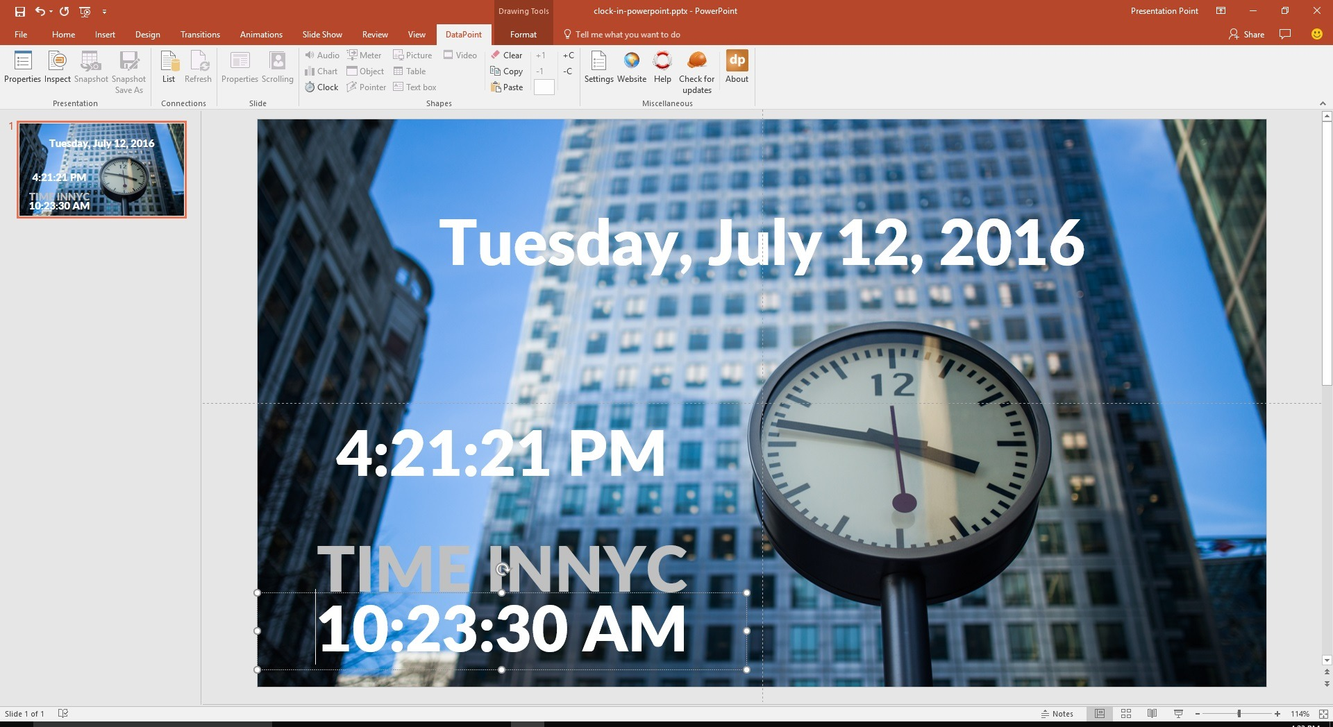 clock of different time zones on your powerpoint slide