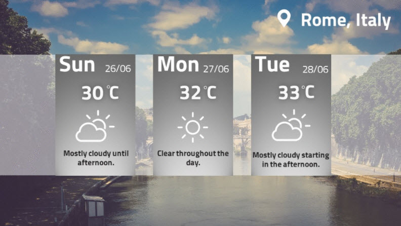 Weather Display with Forecast.io / Dark Sky API