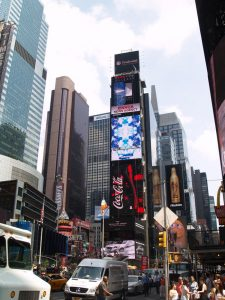 dynamic digital signage in times square