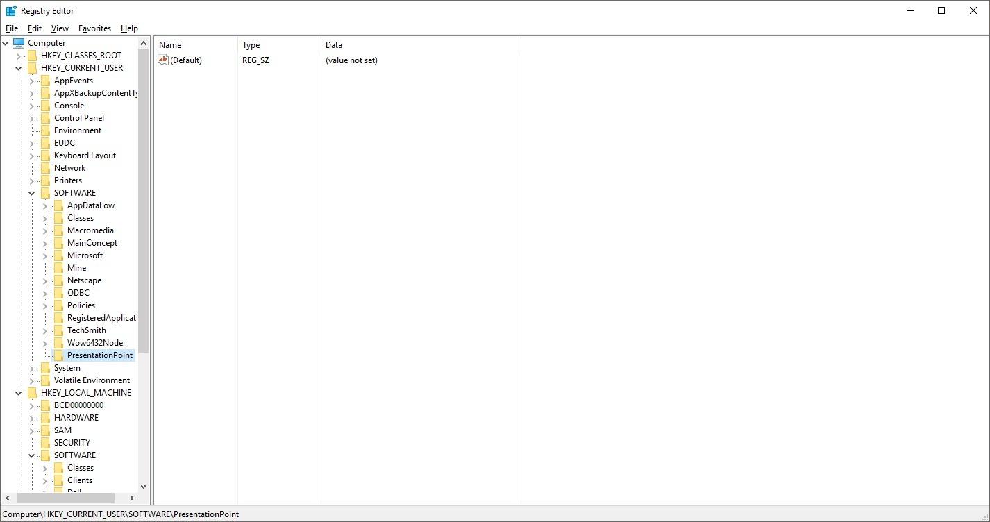 add or open presentationpoint folder