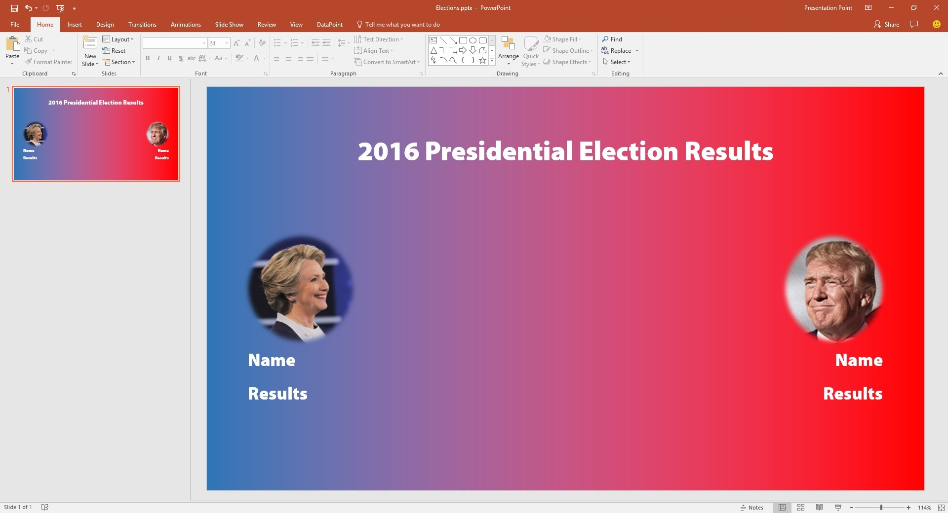 display live election results in powerpoint