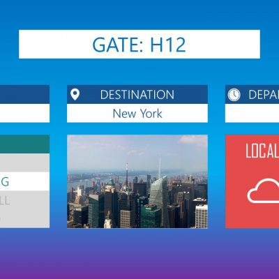 Premium PowerPoint template for Airports - Gate info
