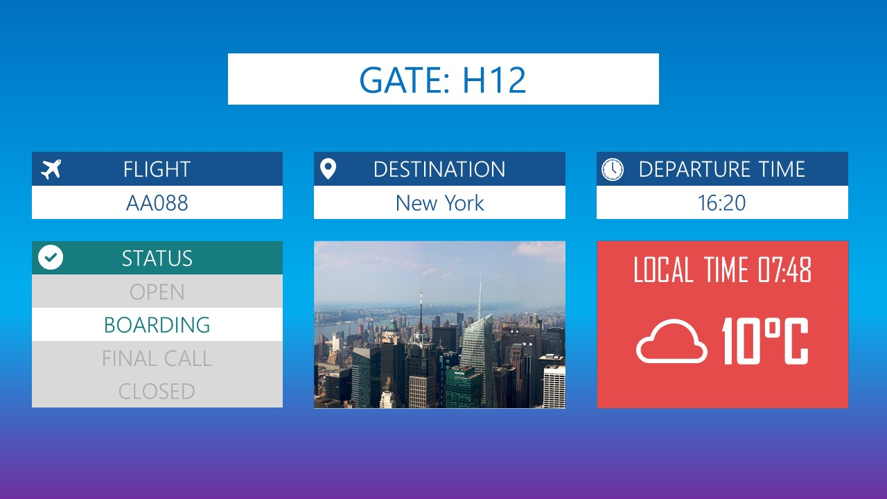 Template airport 001 presentationpoint premium powerpoint template for airports gate info toneelgroepblik Image collections