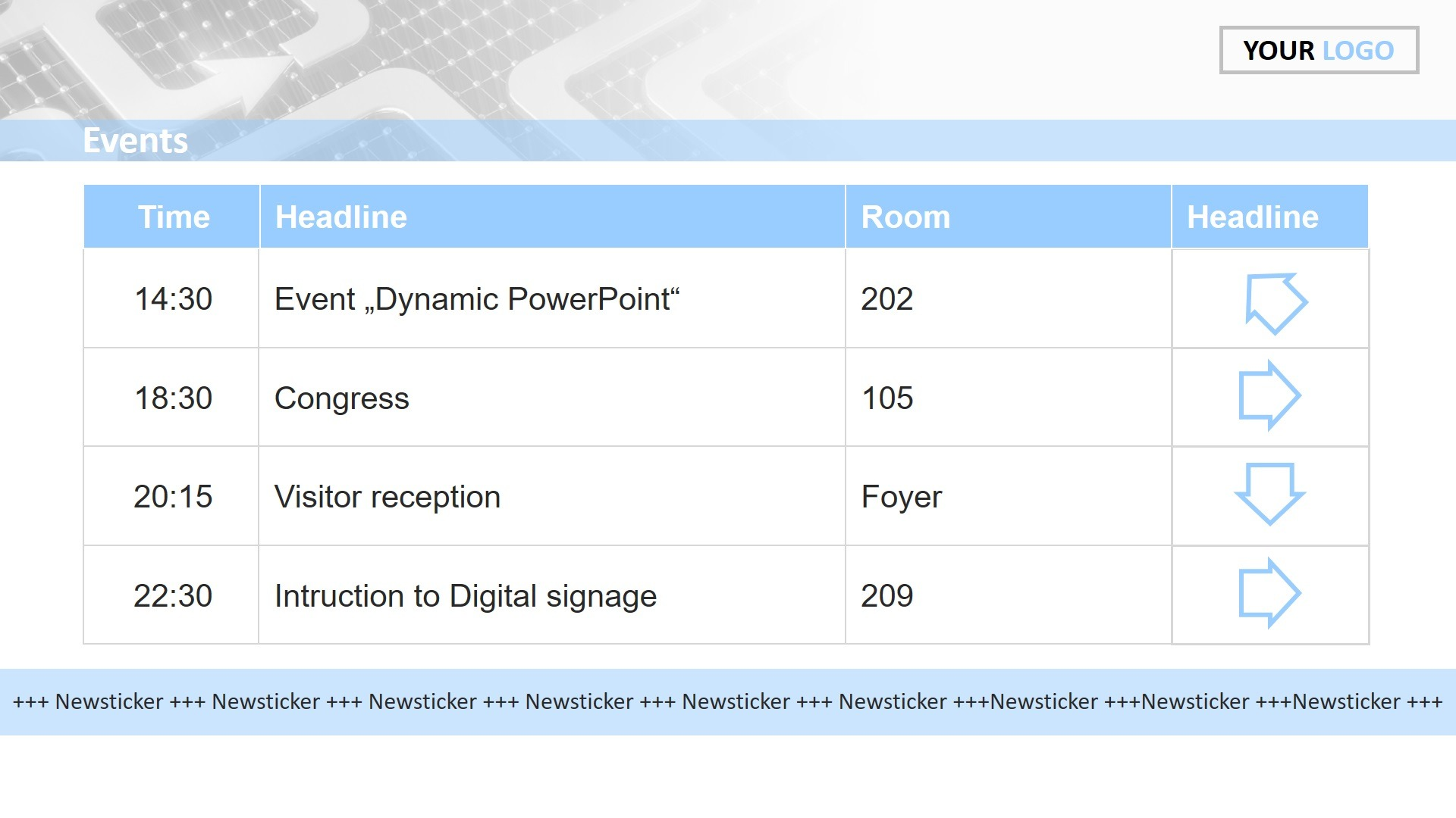 Dynamic PA System in PowerPoint slide show