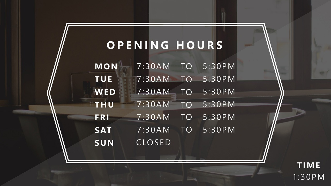 powerpoint business hours template  u2022 presentationpoint