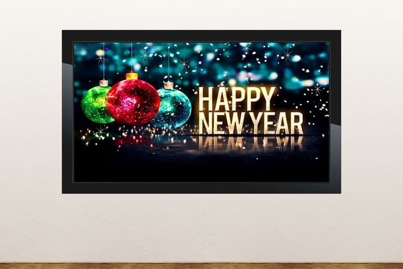 Free digital signage powerpoint template for New Year