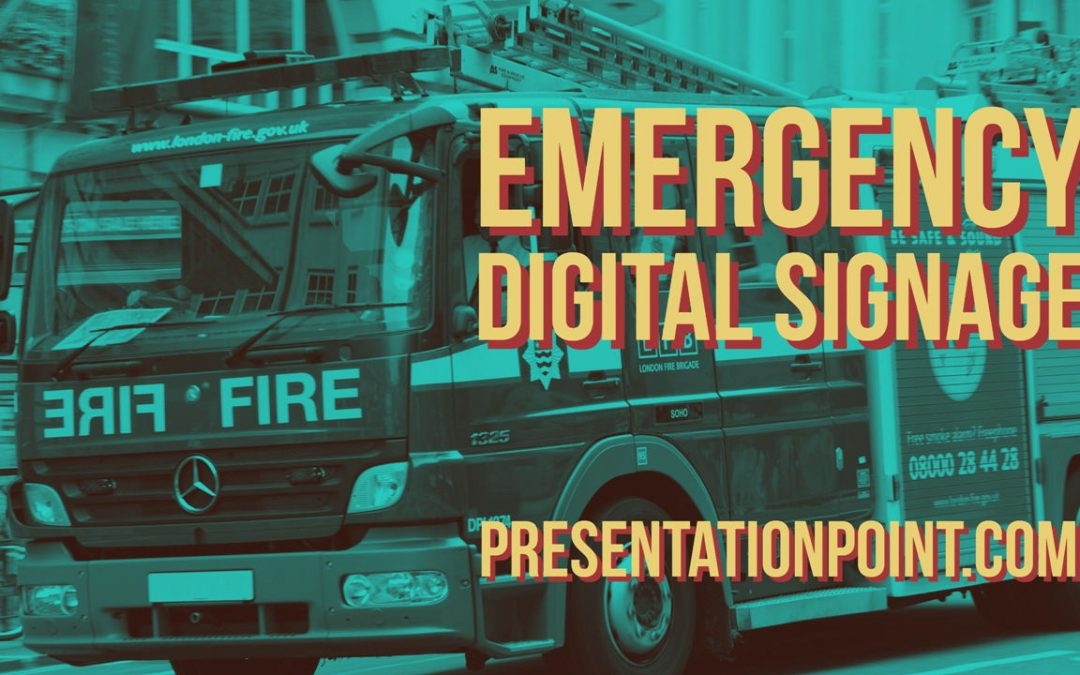 Emergency Digital Signage From Existing Networks