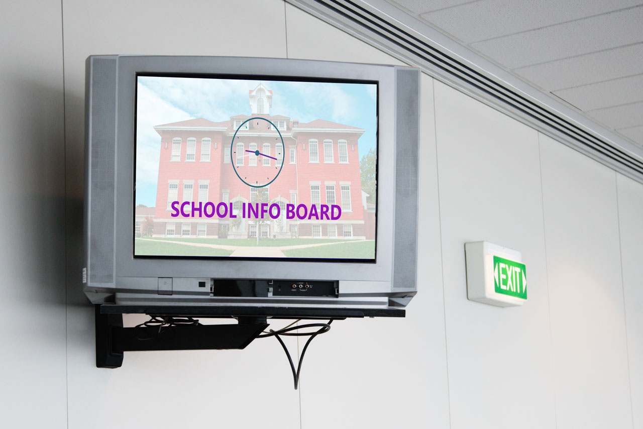 Digital Signage for Schools and Universities: school information board